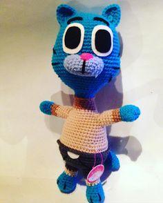 Gumball By Pinkstore #gumball #increiblemundodegumball #cartonnetwork #cat #amazingworldofgumball #cartoons #ganchillo #crochet #handmade #handknit #pinkstorehandknit #pinkstore #mundogumball #elisi #yarnlove #yarnaddict #örgü #goznuru #cute #amigurumi #amigurumis #crochetdoll by pinkstore_amigurumis