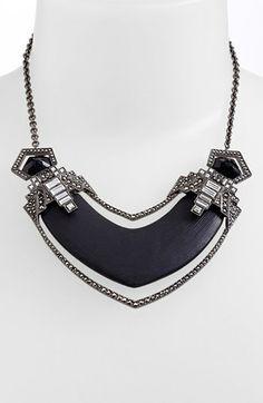 Alexis Bittar 'Lucite® - Santa Fe Deco' Pavé Framed Bib Necklace | Nordstrom