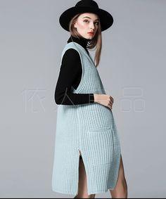 Новый +2015 Весна вязать свитер жилет женский жилет без рукавов жилет шерстяное пальто длинный абзац Корейская волна - Taobao
