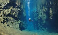Þingvellir in Iceland - Wonder of the world diving between two plates #iceland #ttot #diving