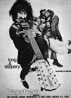 The Mothers of Invention advertise Hagstrom Guitars