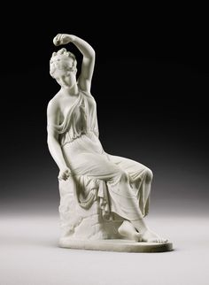 Rudolf Schadow's sculpture of Hede, the goddess of youth. She is the daughter of Zeus and Hera. Hebe was the cupbearer for the gods and goddesses of Mount Olympus, serving their nectar and ambrosia, until she was married to Hercules.