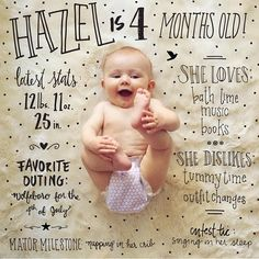 Mak a shutterfly book with one picture for each month on a page. Book of baby stats!