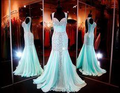 Aqua Beaded Mermaid-Sweetheart Neckline-Open Back-Halter-Train-115JC0532700518 at Rsvp Prom and Pageant, Atlanta, GA