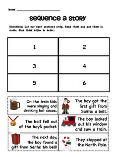 Polar Express Literacy Pack Freebie!