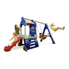 little tykes* Little Tikes Swing Set, Play Swing Set, Kids Swing, Backyard Swing Sets, Backyard Playground, Backyard Toys, Playground Ideas, Backyard Slide, Toddler Playground