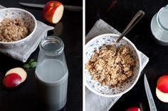 Schwarze Sesammilch und Rosinen-Zimt Granola