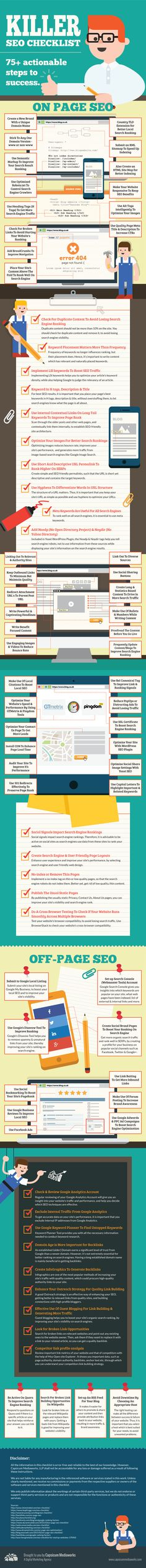 Killer SEO Checklist: 75+ Actionable Steps To Success [Infographic]