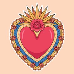 Illustration of sacred heart concept . Art And Illustration, Illustrations Vintage, Landscape Illustration, Petit Tattoo, Celtic Symbols, Mayan Symbols, Egyptian Symbols, Ancient Symbols, Badge Design