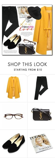 """""""NEWCHIC.com"""" by monmondefou ❤ liked on Polyvore featuring Yves Saint Laurent, women's clothing, women's fashion, women, female, woman, misses, juniors and newchic"""