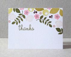 Gorgeous card from Angeline that reminds me of Rifle Paper's beautiful botanical stationary