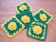Daffodil Granny Square by karen kirkham ~ free pattern