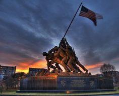 Marine Memorial, D.C. - My dad was on Iwo Jima when the flag was raised. The photo of that scene hung in my home as I was growing up. I have the old treasured picture still today.