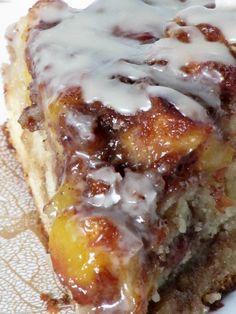 Vanilla Peach Coffee Cake...