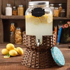 The Pioneer Woman Simple Homemade Goodness 2-Gallon Drink Dispenser with Wicker Stand, Mini Chalk Board with Chalk Pencil - Walmart.com