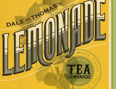 Dale and Thomas Lemonade, design by Jessica Hische