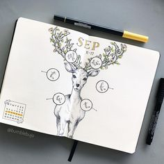 "1,608 Likes, 126 Comments - K (@bumblebujo) on Instagram: ""My deer #weeklyspread all ready to go!! I decided to mish mash two of my previous layouts into one,…"""