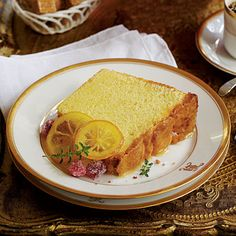Southern Living Lemon Curd Pound Cake. If you find a better recipe or have any good lemony dessert recipes please share!!!!!