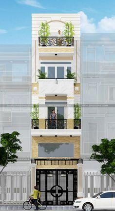 Thiệt kế nhà ống 5 tầng phong cách tân cổ điển