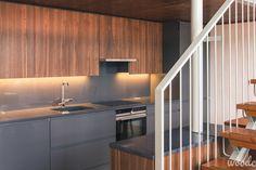 Dark grey & oak kitchen