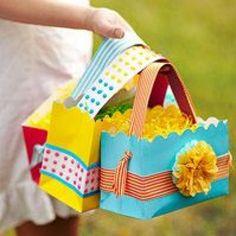 easter basket - paper bag diy