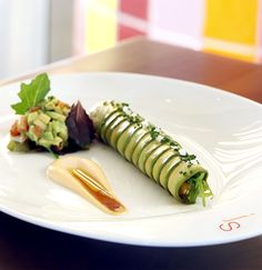 #Avocado Cannelloni - atlantic salmon | seaweed wakame | rocoto mayo #healthy