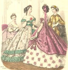 The Magpie Costumer: 2 fabrics in one dress, Part 2 the 1860s - ball gowns and more