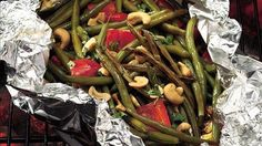 Grilled Teriyaki Green Beans with Cashews http://tntbender.winwithsbc.com/?SOURCE=recipes
