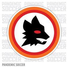 AS Roma Calcio Italy Vinyl Sticker Decal