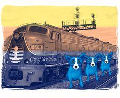 """City of New Orleans"" Prints: 2010 | George Rodrigue Studios"