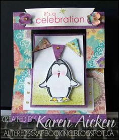 Flip-It Card   Altered Scrapbooking   I love seeing what everyone does with their Sizzix Flip-It dies, so thought I'd share mine too.