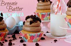 amazing looking brownie batter cupcakes