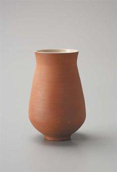 Vase, Earthenware, pale green glazed interior. 9 1/4 in. (23.5 cm) high, c.1947
