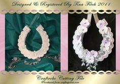 3D Scalloped Layered Horseshoe GSD on Craftsuprint designed by Tina Fitch - Just a Beautiful keepsake to give the bride on her Wedding day.. Decorate as little or as much as you like.. As you can see in the two different pictures how you can make as simple or as stunning as you wish. - Now available for download!