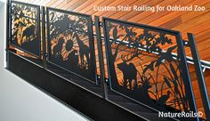 Custom Stair Railing for Oakland Zoo. Bring out your wild side and we'll help…