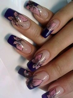 2017 nail polish trends and manicure ideas - 2017 nail polish trends and manicure ideas . - 2017 nail polish trends and manicure ideas – 2017 nail polish trends and manicure ideas – # Man - Cute Nail Art Designs, French Nail Designs, Beautiful Nail Designs, Nails 2017, Nagellack Trends, Butterfly Nail, Butterfly Design, Nail Polish Trends, Nail Trends
