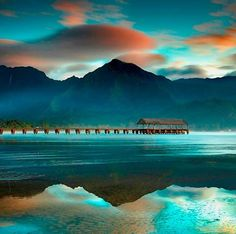 Hanalei Hawaii...... pretty unusual and amazingly beautiful