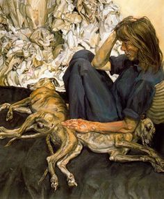 Lucian Freud, Triple Portrait (1986-87) on ArtStack #lucian-freud #art