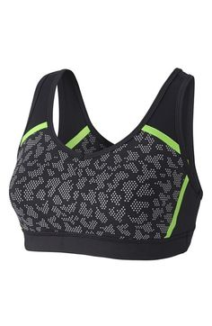 Free shipping and returns on Zella 'Heartbeat' Reflective Print Sports Bra at…