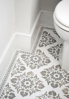 Beautiful stencilled floor by Nicolette Tabram using her own stencils.