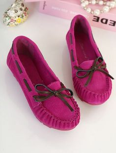 Casual Style Bowknot Low Heel Shoes Flat