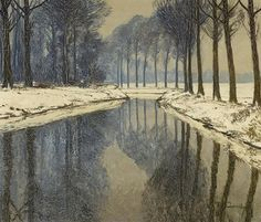Max Clarenbach (German, 1880 - 1952) - Winter in the Erft