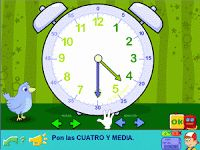 Ejercicios sobre el reloj analógico