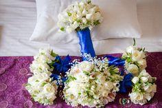 Hermosos ramos para la novia y sus bellas damas, ideal para tu boda en playa por Bodas Huatulco