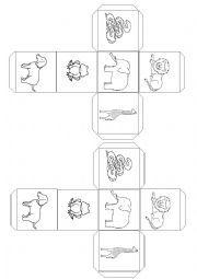 English worksheet: Dear Zoo dice