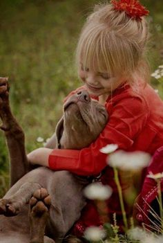 how cute is this girl and her dog!