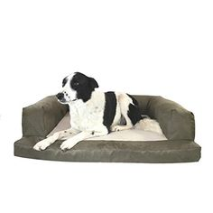 xxl dog bed sage cream extra large orthopedic dog couch microsuede faded green color canine bedding