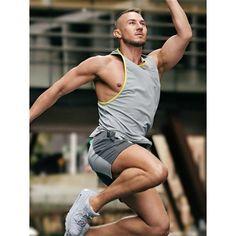 2Eros Pro Aktiv Tank Top Titanium (T5351) Baggy Shorts, Sweater And Shorts, Andrew Christian, Hot Hunks, Mens Activewear, Aktiv, Gym Wear, New Man, Workout Wear