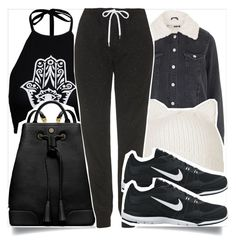 """""""School Style"""" by madeinmalaysia ❤ liked on Polyvore featuring Boohoo, Topshop, Tory Burch and NIKE"""