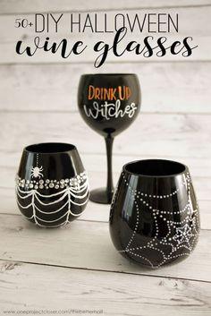 DIY Halloween Wine Glasses Ideas – The Perfect Girl's Craft Night!